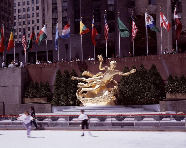 Ice skating in New York City