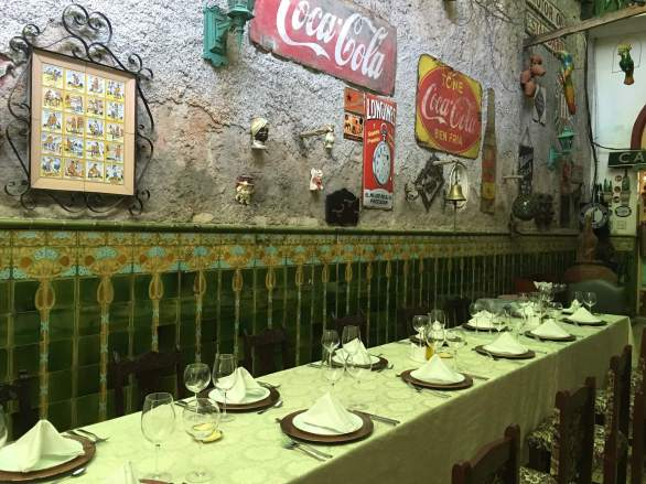 Dinner table in San Cristobal, Havana