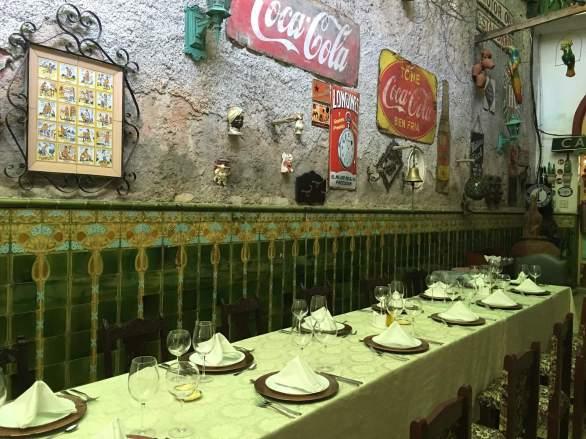 Dinner table in San Cristobal, Havana