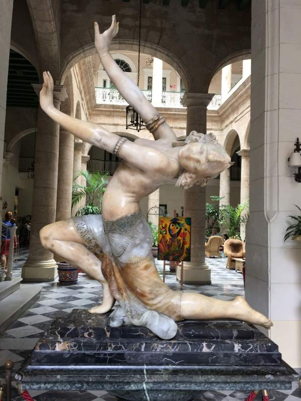 Beautiful statue in Old Havana on your perfect Cuba itinerary