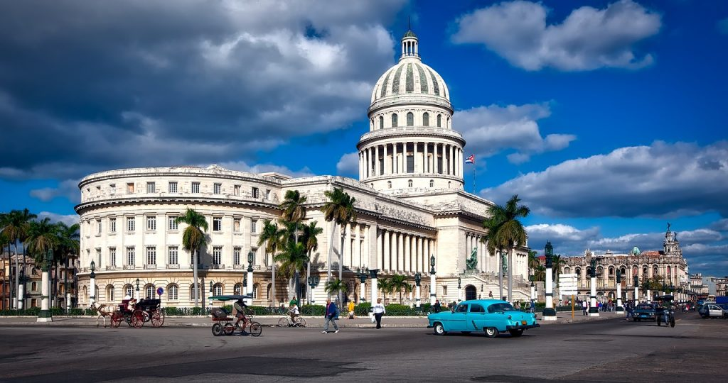 The capitol building in Havana, Cuba