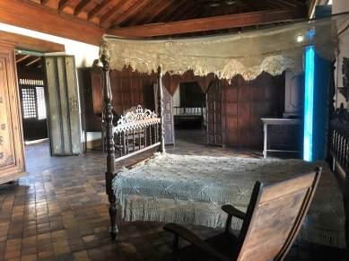 Bedroom in Casa Velasquez Museum in Santiago.
