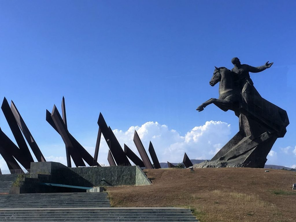Plaza Revolucion Maceo monument. Santiago de Cuba activities.