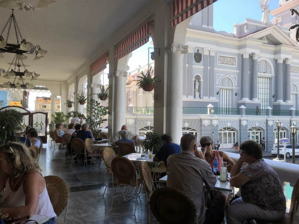 Balcony of Hotel Casa Granda in Santiago.