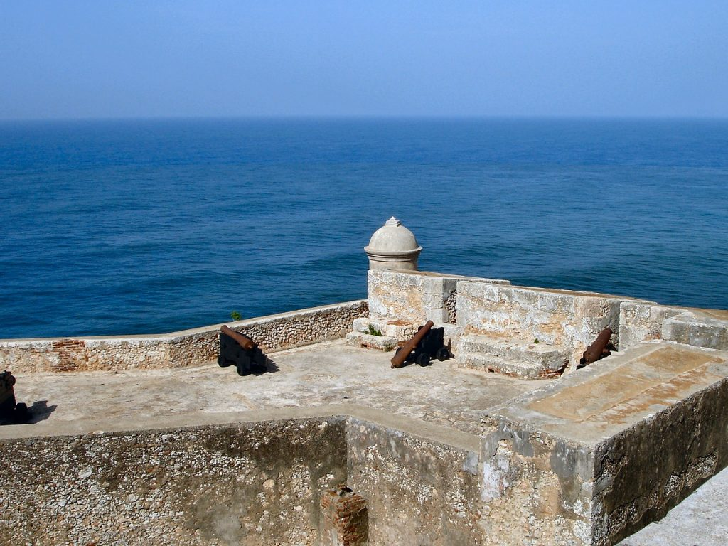 View of Santiago Bay from El Morro Fortress, on your perfect Cuba travel itinerary