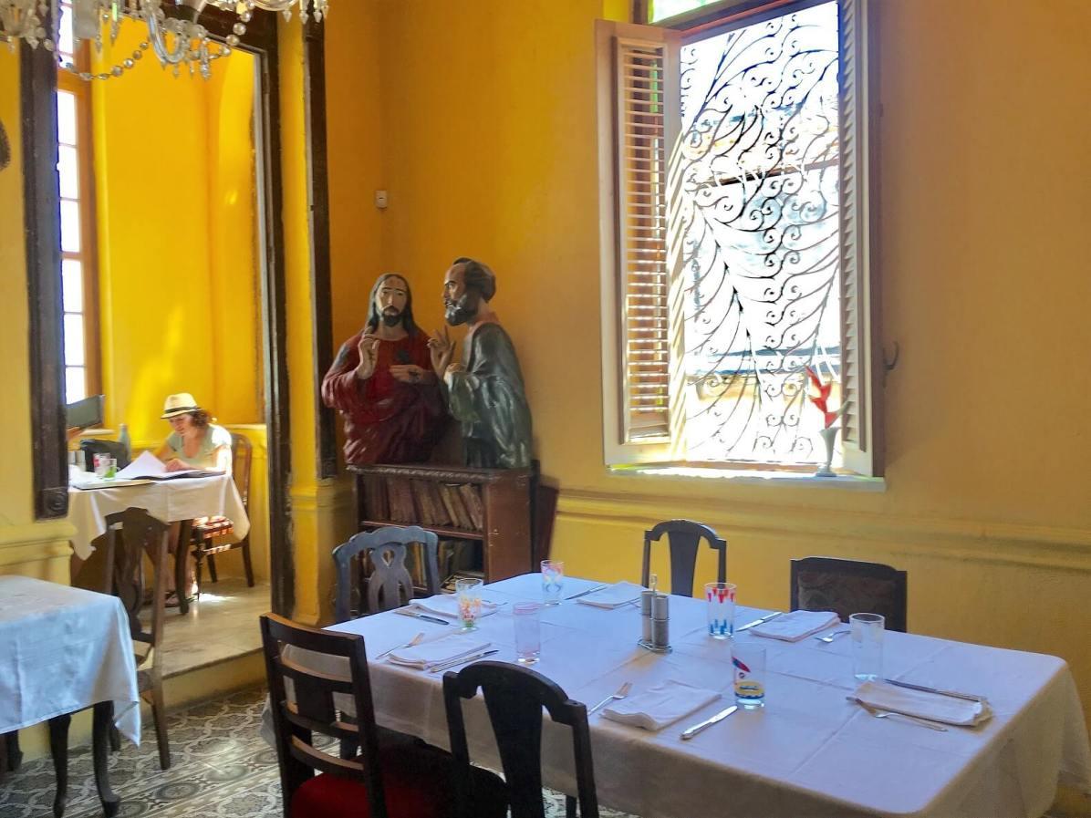 Inside La Guarida restaurant in Havana