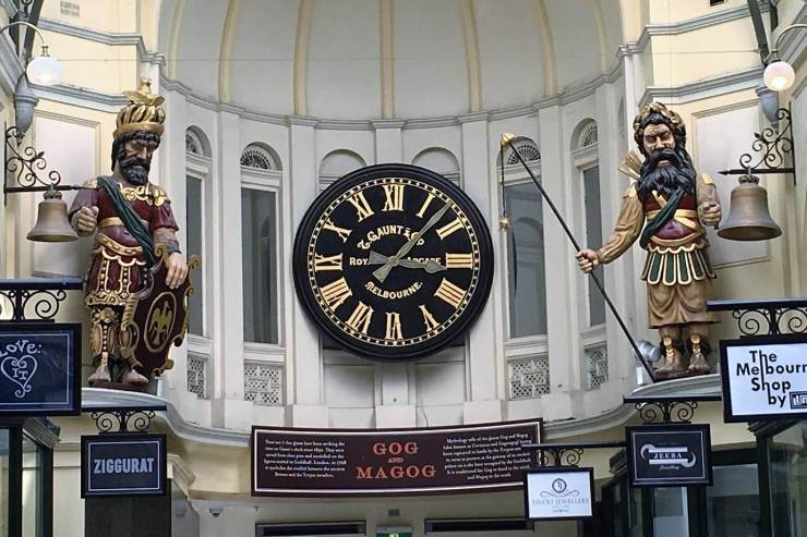 Clock Tower in a Melbourne, Australia arcade