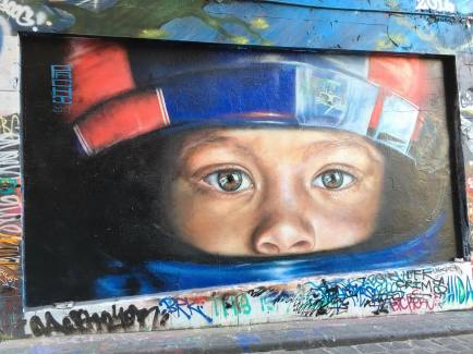 Interesting street art in Melbourne