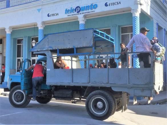 transport truck A