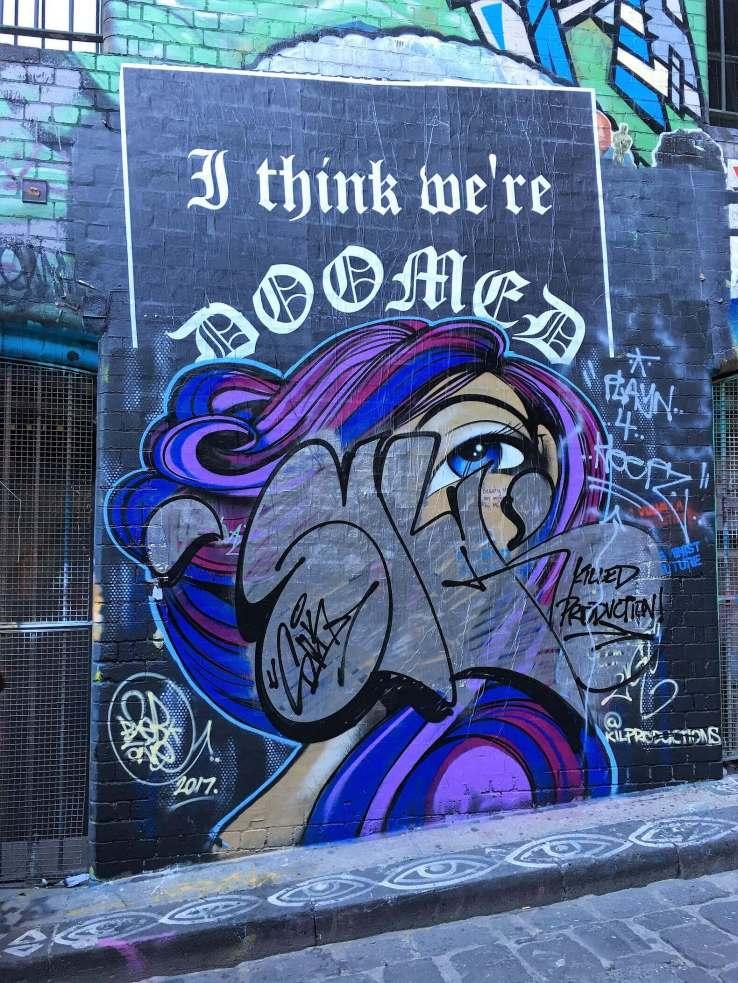 Alternative street art in Melbourne