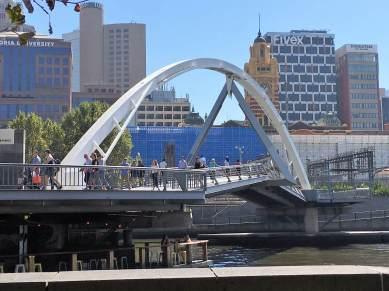 One of Melbourne's artsy bridges