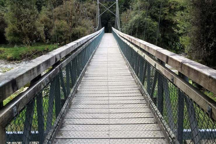 Hanging bridge in Queenstown, New Zealand