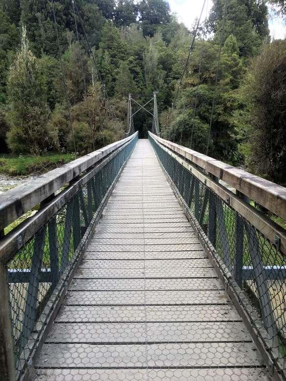 Hanging bridge in Queenstown, New Zealand