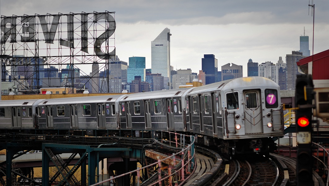 New York City's #7 train.