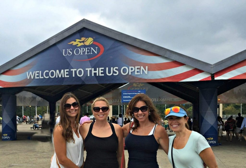 At the U.S. Open in New York City