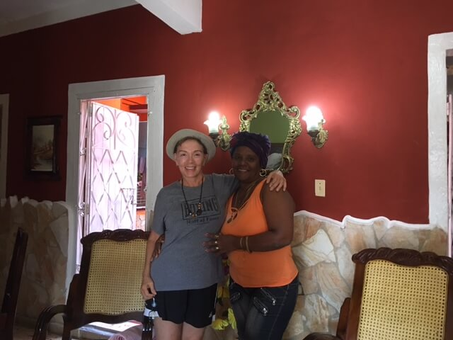 My hostess, Terecita, at my Cuban casa particular