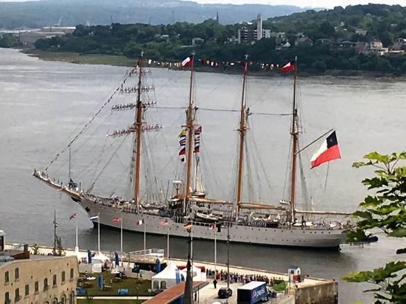 Chilean ship docks in Old Quebec