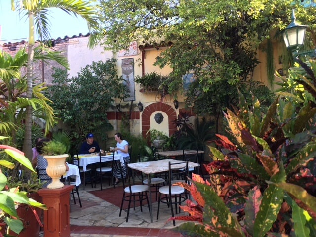 Breakfast on the patio in Santa Clara