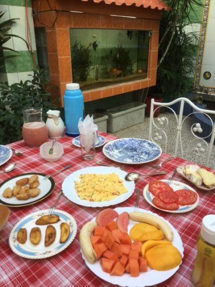 Enjoy a Santiago breakfast on your trip to Cuba