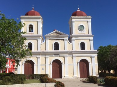 Typical church on square of Cuban towns
