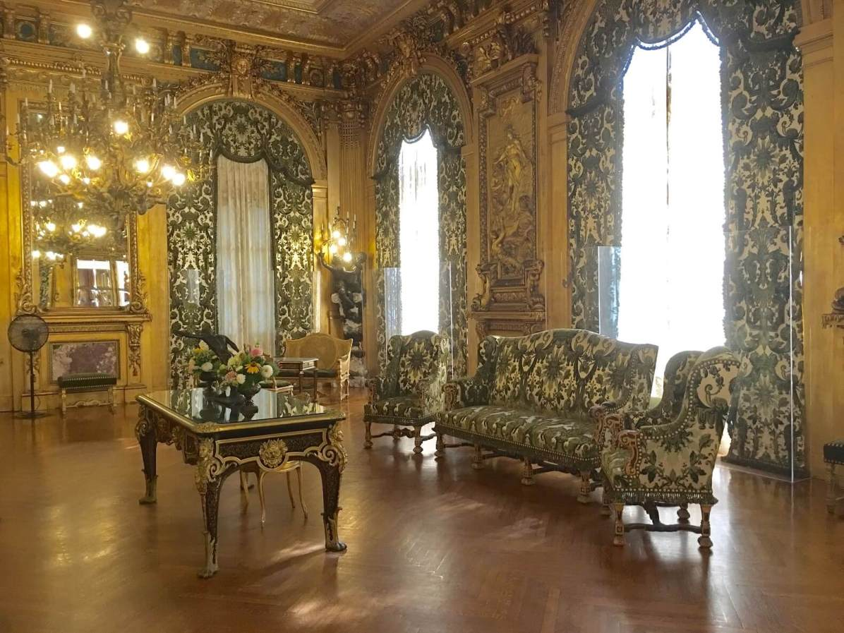 Gold room at Marble House, most spectacular of the Newport mansions
