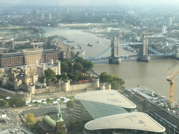 View from The Eye, things to do in South Bank London