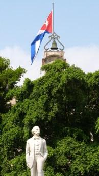 Jose Marti park has Wi-Fi in Cuba