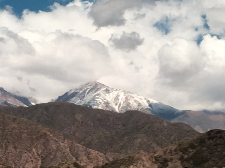View while crossing the Andes