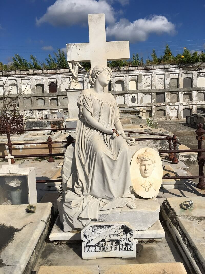 Beautiful monument in historical cemetery