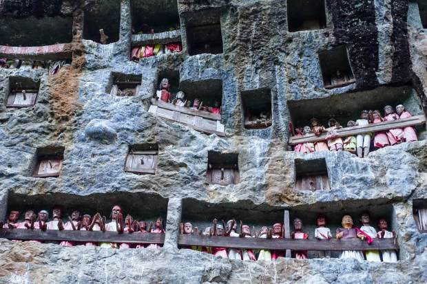 Toraja is one of the strange and unusual cemeteries of Asia