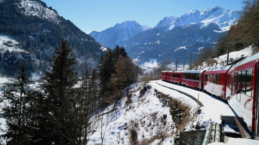 Bernina Express for great train vacations