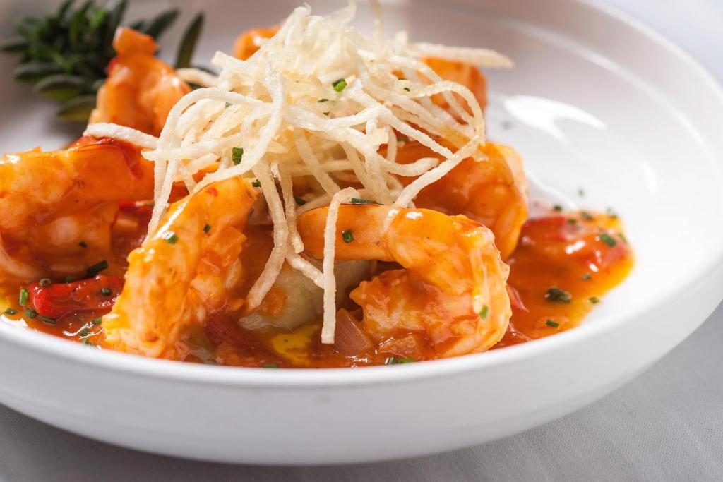 Authentic ethnic restaurants in New York City offer Cuban style shrimp