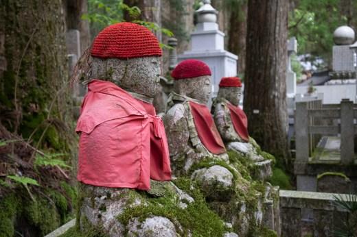 statues in Koya-san, Japan Cemetery
