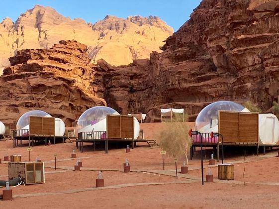 Sleeper pods in Wadi Rum camp