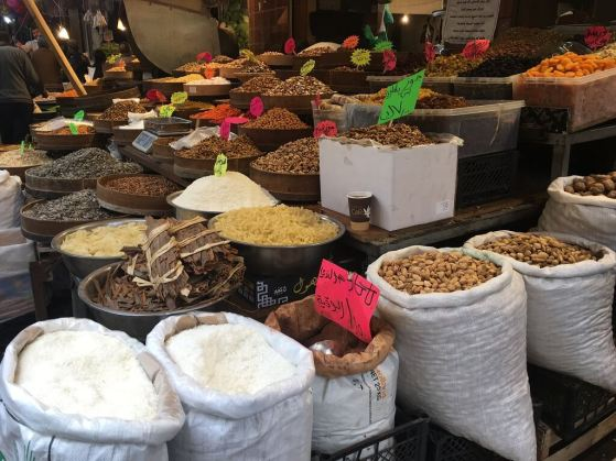 Spices in Amman Jordan on a 2 day itinerary