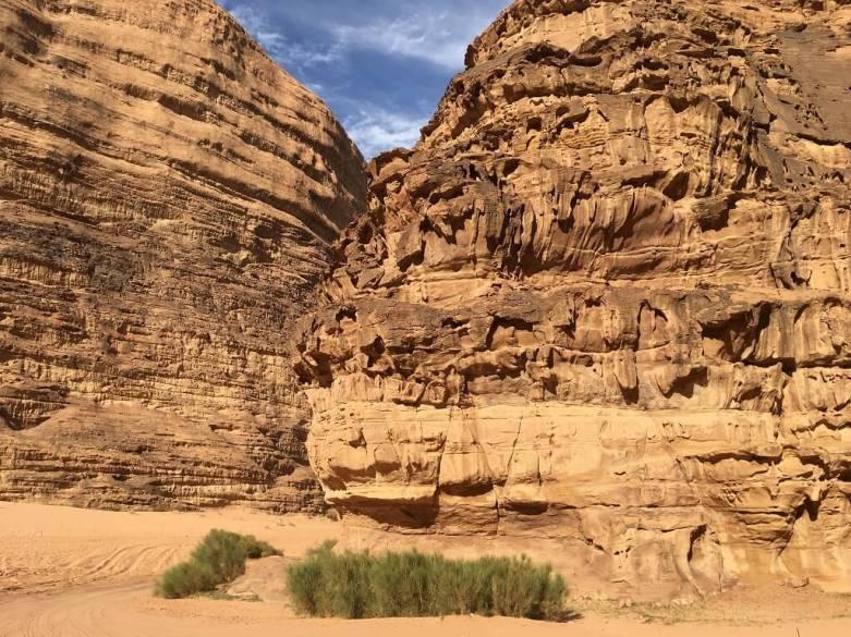 Tall rocks near camp