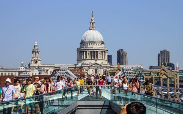 Saint Pauls across from Southbank in London