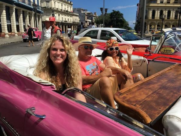 Classic cars on our Cuba cultural tour
