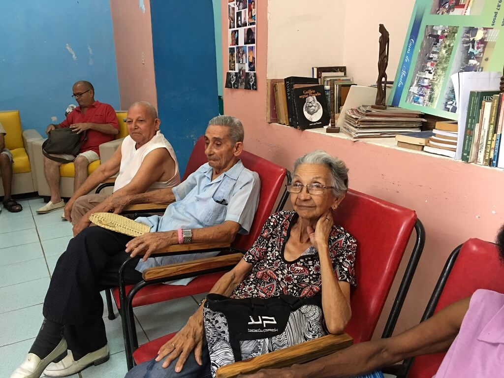 At the senior center in Havana, part of the Cuba Cultural Tour