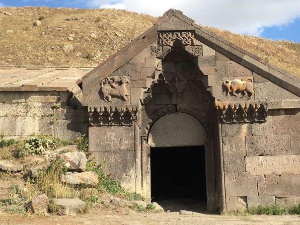 Doorway of Salim Caravanserai, one of the most interesting places to visit in Armenia