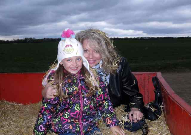 Hayride with Becca, Holly's granddaughter!