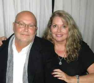 Randy and I at a fall wedding.