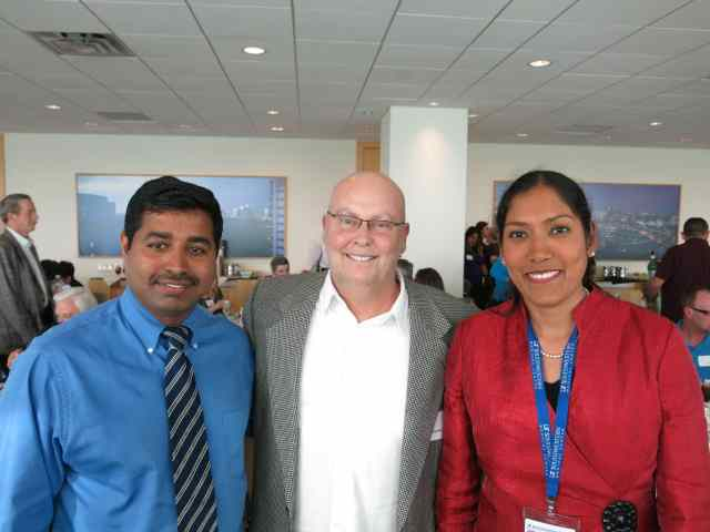 Randy with two of the most amazing doctors one could ever meet: Srinvivas Bollenini and Vaidehi Kaza.