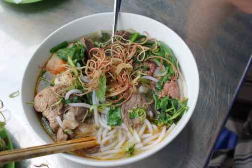 Vietnamese streetfood soup Bun Bo Hue