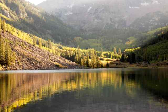 Gorgeous Golden Fall in Maroon Bells.