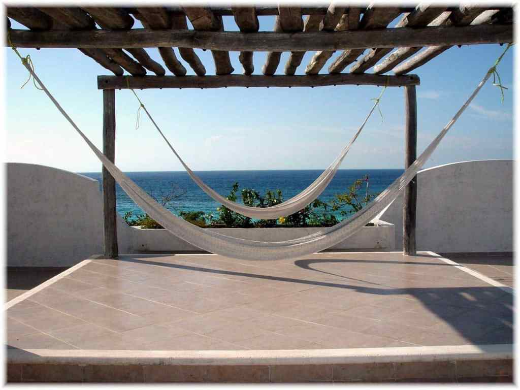 Hammocks on the roof.
