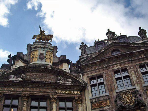 Blue Sky in Grand Place. Brussels, Belgium.