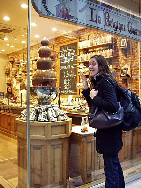 My First Belgian Chocolate Shop. Let me in!