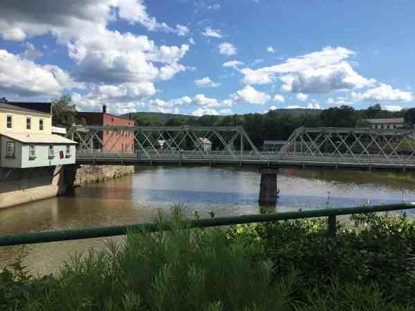 Bridge of Flower in Shelburne Falls, Massachusetts.