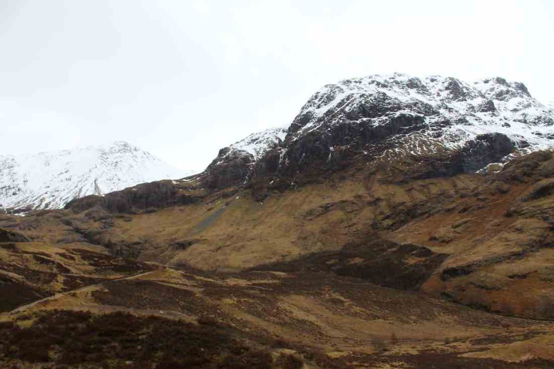 snowcapped glencoe scotland